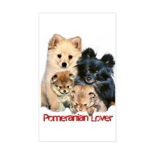 """Pomeranian Lover"" Sticker (Rect.)"