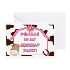 Cow Sign Greeting Card