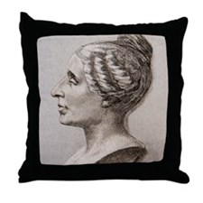 Sophie Germain (1776- 1831) Throw Pillow