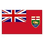 Manitoba Flag Rectangle Sticker