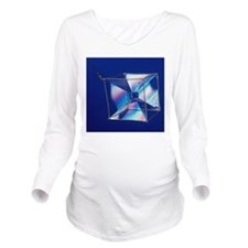 Soap films on a cube Long Sleeve Maternity T-Shirt