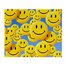 Smiley face symbols Throw Blanket