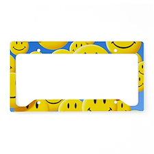 Smiley face symbols License Plate Holder