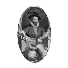 Sir Walter Raleigh, English explor Oval Car Magnet