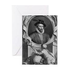 Sir Walter Raleigh, English explorer Greeting Card