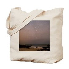 Sirius in Canis Major over a beach Tote Bag