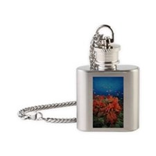 Coral and fish Flask Necklace