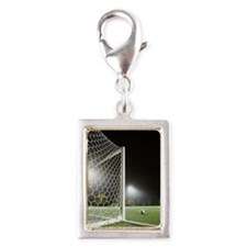 USA, California, Ladera Ranc Silver Portrait Charm