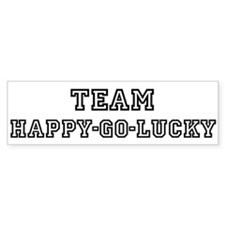 Team HAPPY-GO-LUCKY Bumper Bumper Sticker
