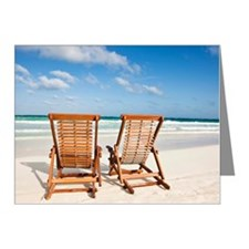 Beach chairs in the sand Note Cards (Pk of 20)