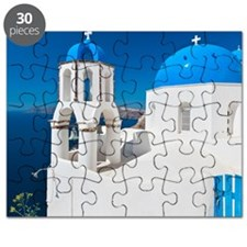 Greece, Cyclades Islands, Santorini, Oia, C Puzzle