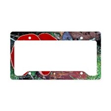 Scarlet elf cup fungi License Plate Holder