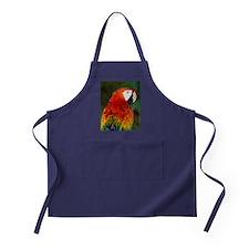 Scarlet macaw Apron (dark)
