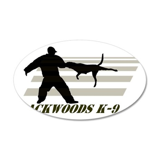 Backwoods K-9 35x21 Oval Wall Decal
