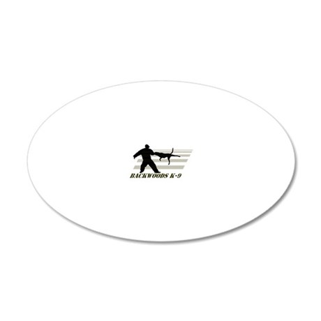 Backwoods K-9 20x12 Oval Wall Decal
