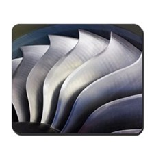 S-curve fan blades Mousepad