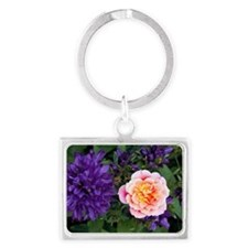 Rose flower and clustered bellf Landscape Keychain