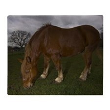Critically endangered Suffolk Punch  Throw Blanket