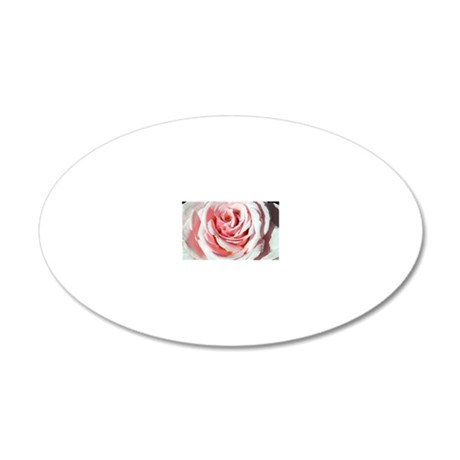 Rose (Rosa 'Savoy Hotel') 20x12 Oval Wall Decal