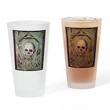 Roman memento mori mosaic Drinking Glass