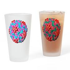 Rhinovirus particle, artwork Drinking Glass
