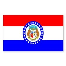 Missouri Flag Rectangle Decal
