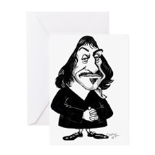 Rene Descartes, caricature Greeting Card