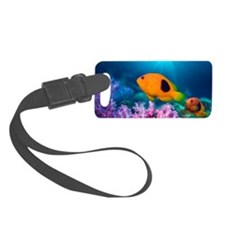 Red saddleback anemonefish and s Luggage Tag
