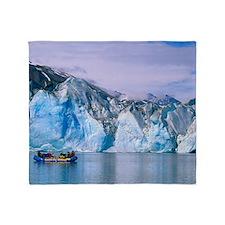 Rafting on Lowell lake, Canada Throw Blanket