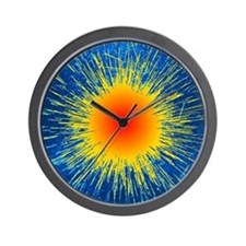Radioactive emission from radium Wall Clock