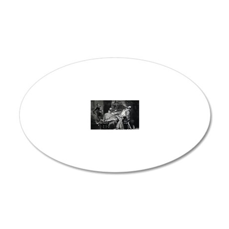 Raleigh smoking tobacco, 16t 20x12 Oval Wall Decal