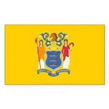 New Jersey Flag Rectangle Decal