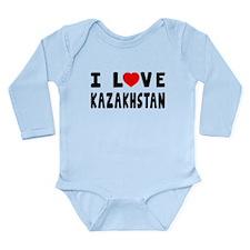 I Love Kazakhstan Long Sleeve Infant Bodysuit
