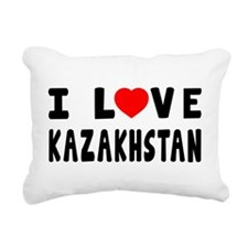 I Love Kazakhstan Rectangular Canvas Pillow