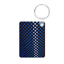 Punched holes in aluminium Aluminum Photo Keychain