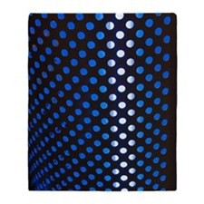 Punched holes in aluminium sheet Throw Blanket