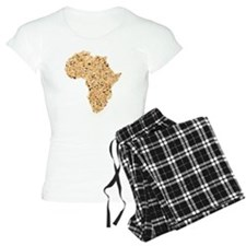 Map of Africa made of Cerea Pajamas