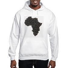 Map of Africa made of Black Bean Hoodie
