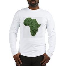 Map of Africa made of grass Long Sleeve T-Shirt