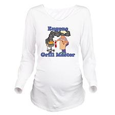 Grill Master Eugene Long Sleeve Maternity T-Shirt
