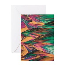 crystal micro structure Greeting Card