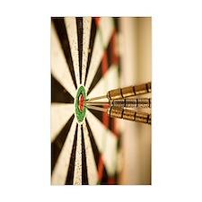 Darts in bull's-eye of target Decal