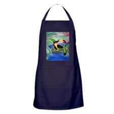 toucan in the rainforest Apron (dark)