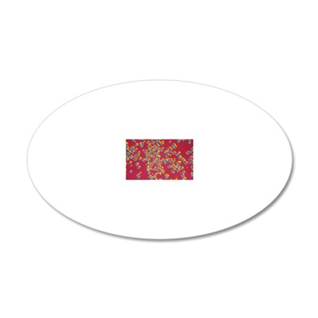 Polarised LM of crystals of  20x12 Oval Wall Decal
