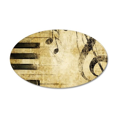 Musical Notes 35x21 Oval Wall Decal