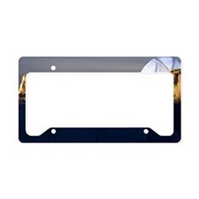 Couple at campsite License Plate Holder