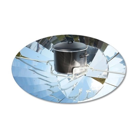 Parabolic solar cooker 35x21 Oval Wall Decal