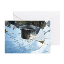 Parabolic solar cooker Greeting Card