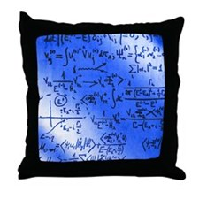 Particle physics equations Throw Pillow