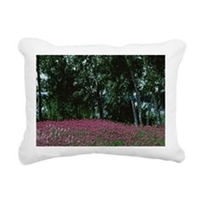 Wildflowers and trees in Rectangular Canvas Pillow